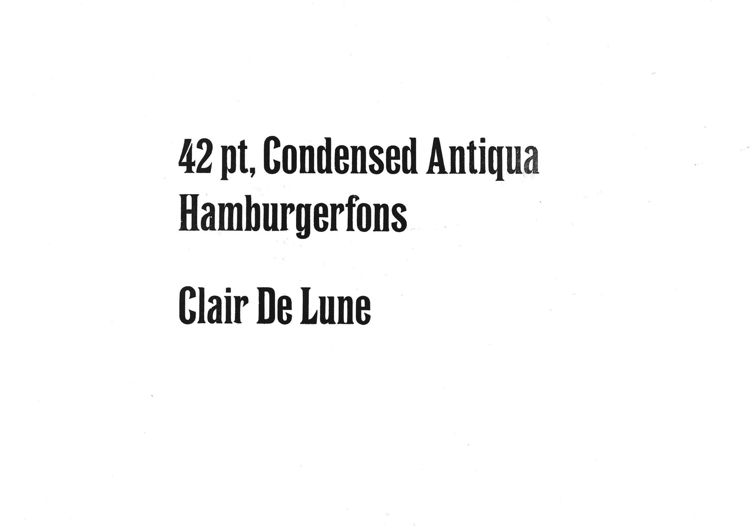 42pt. Condensed Antiqua