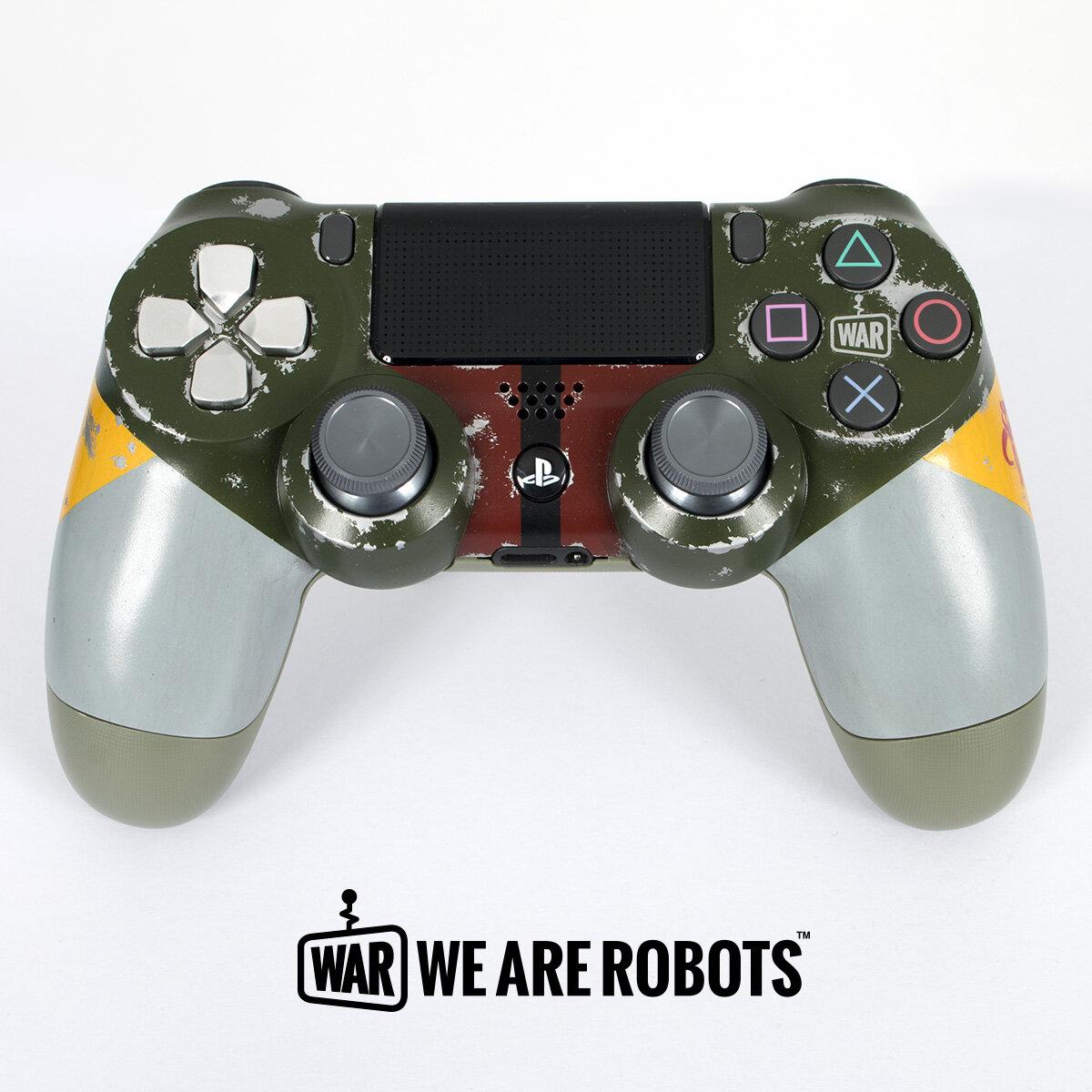 WAR Customs - PS4 Controller - Boba Fett