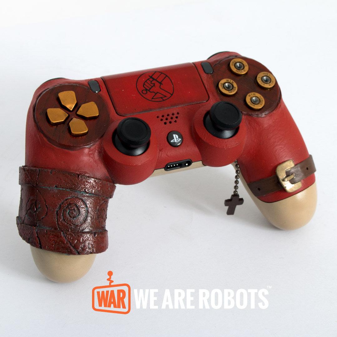 WAR Customs - PS4 Controller - Hellboy