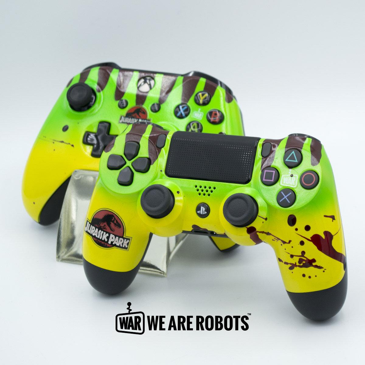 WAR Customs - PS4 Controller - Jurassic Park