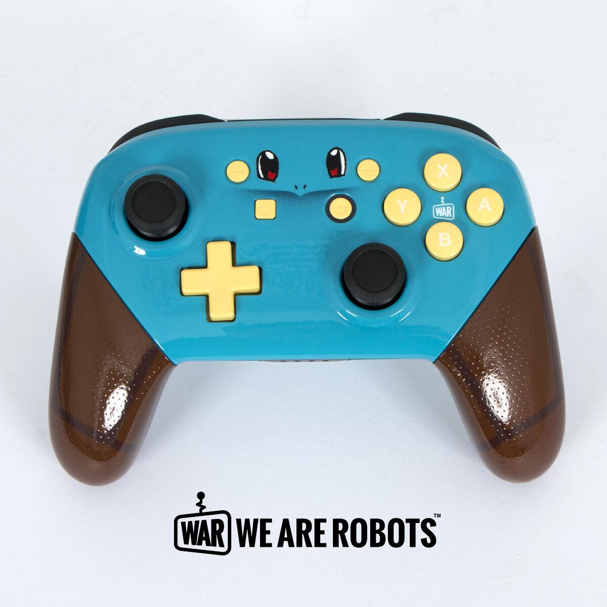 WAR Customs - Nintendo Switch Controller - Squirtle Pokemon