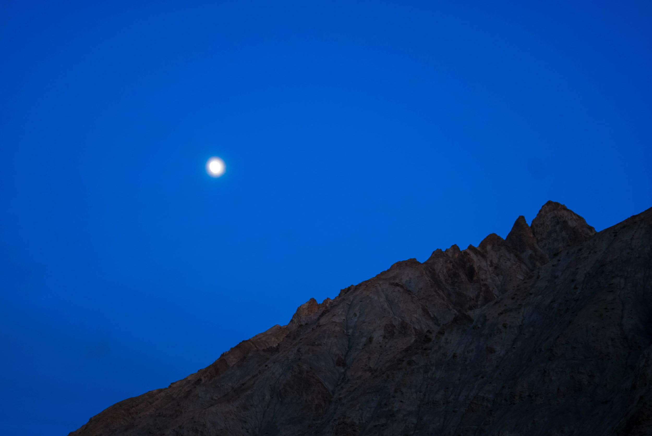 Moonrise in the Himalayas.
