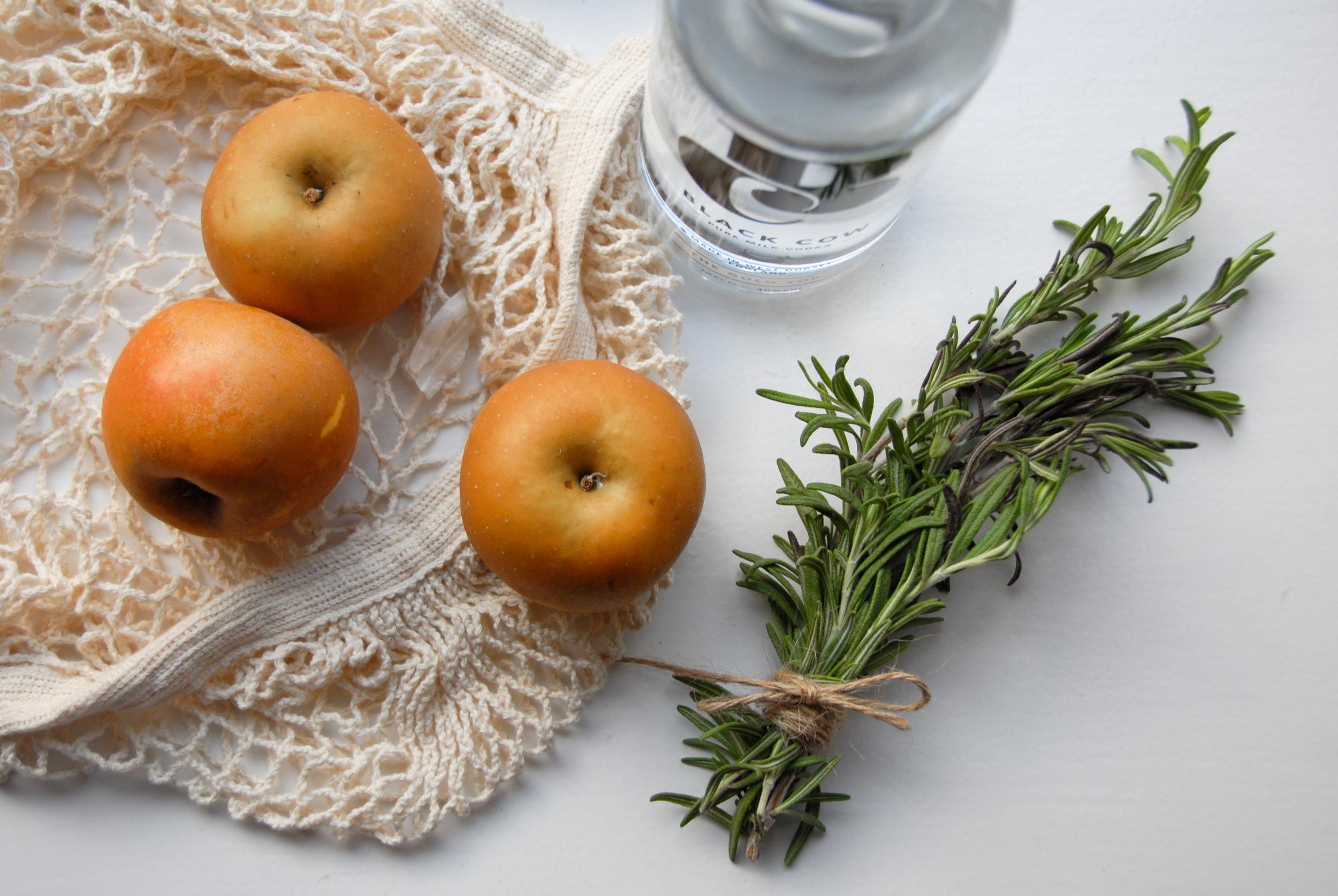 Apples Vodka Rosemary