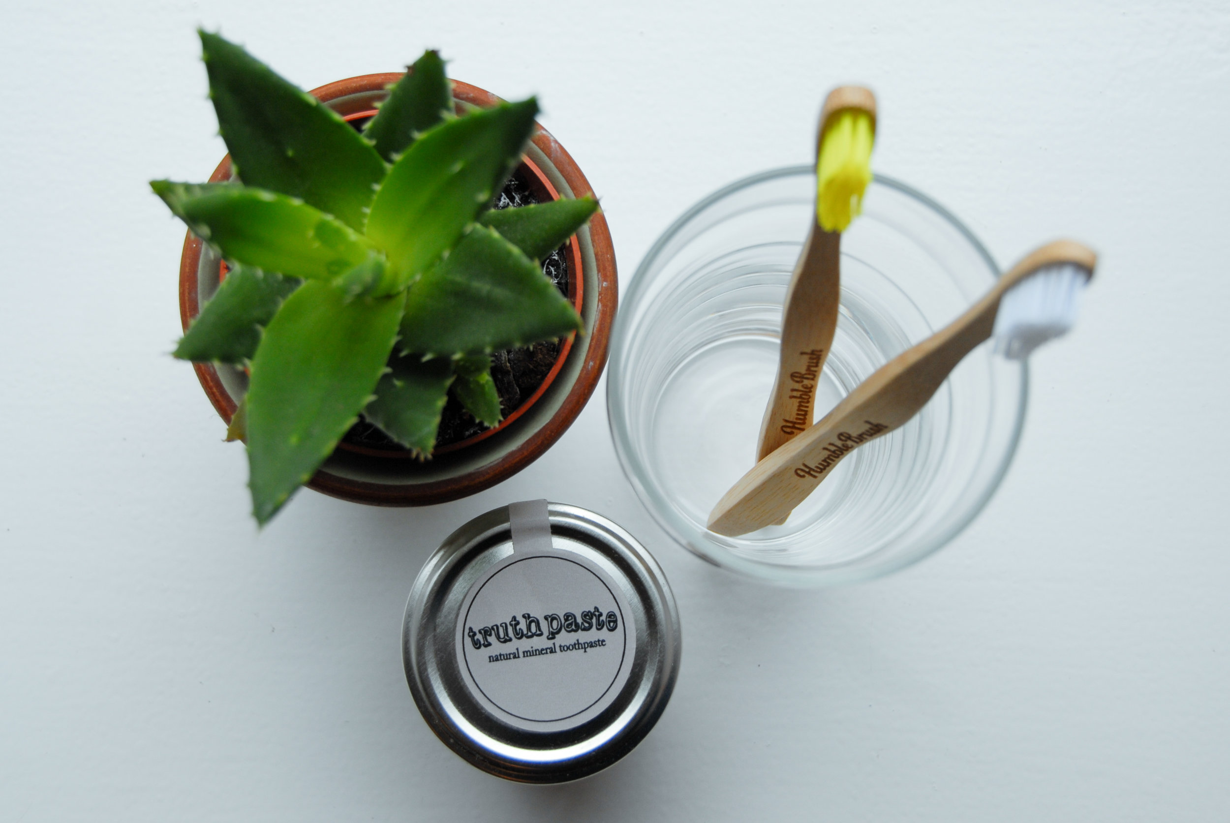 Bamboo Toothbrush and Bentonite Clay Based Toothpaste