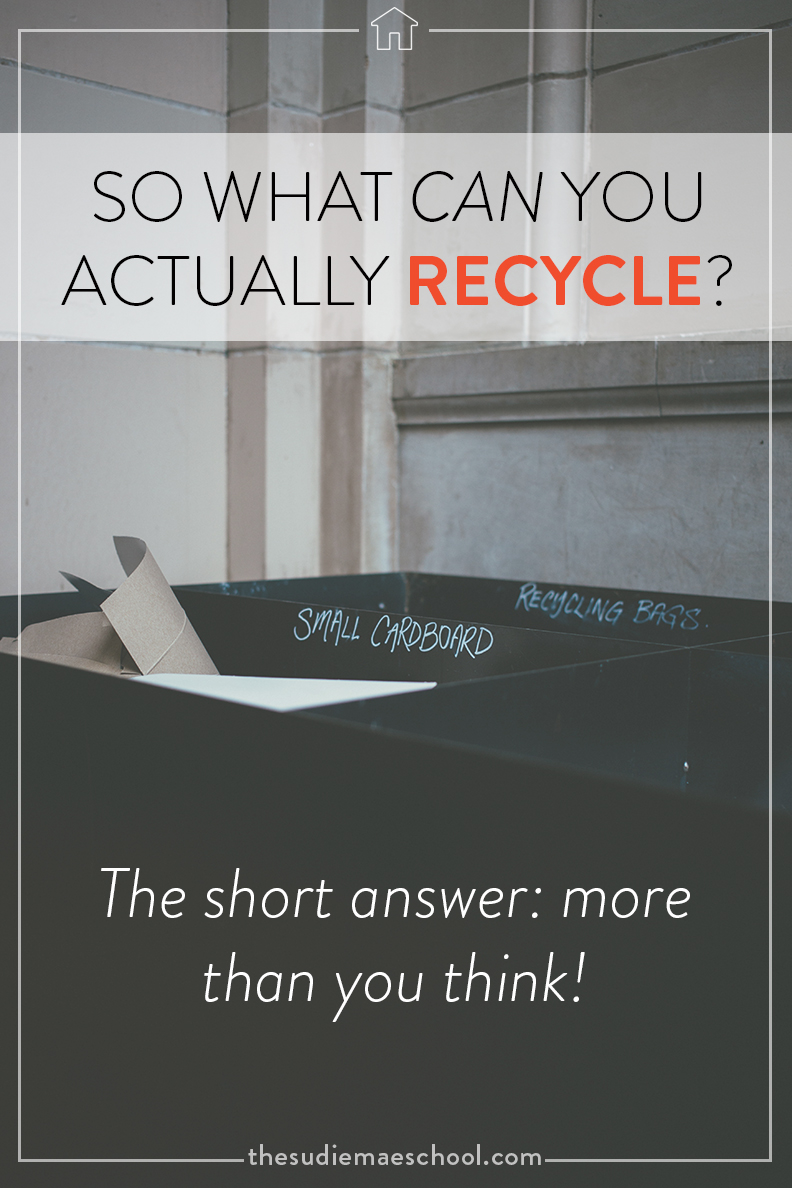 So what can you actually recycle
