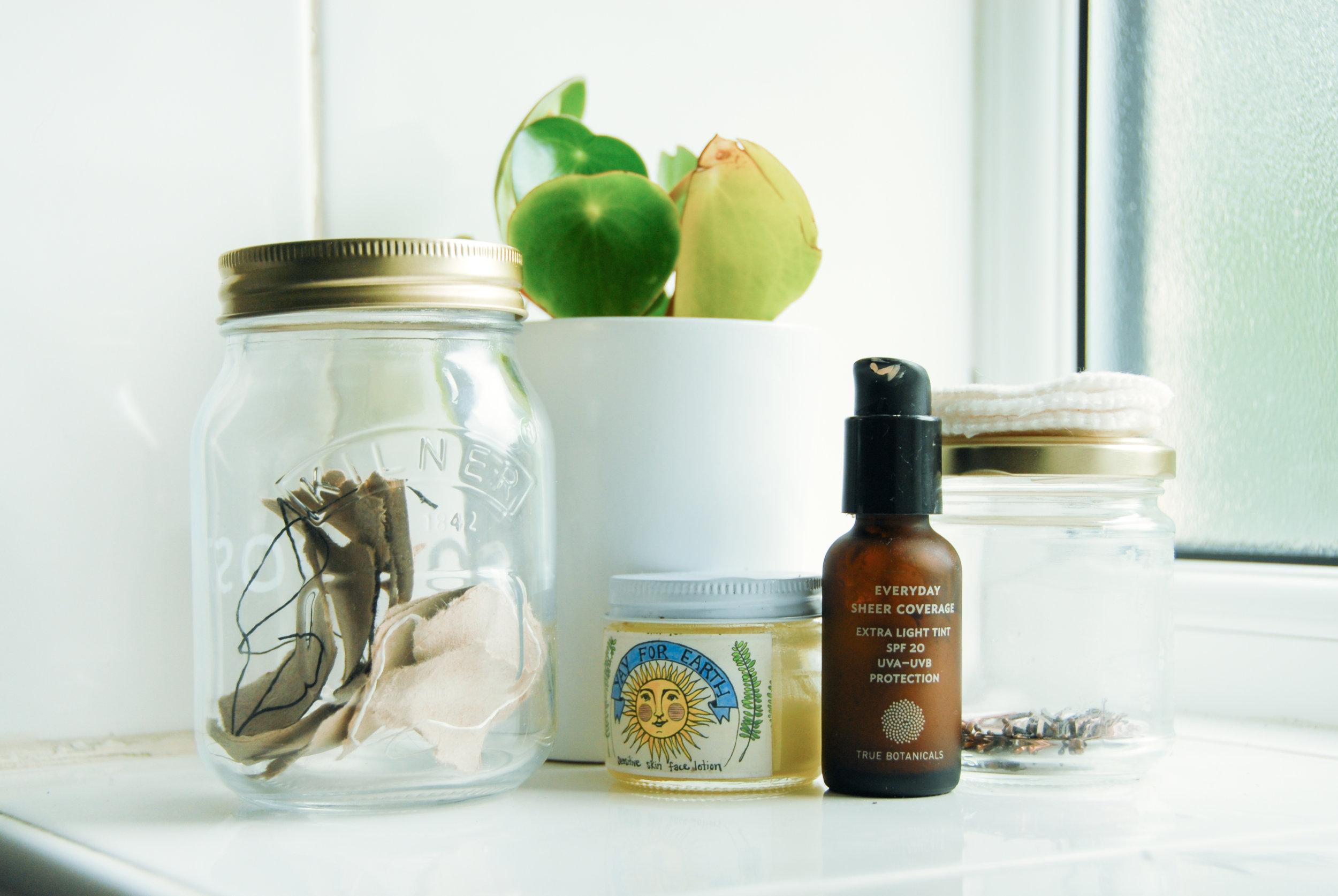 Bathroom compost jar