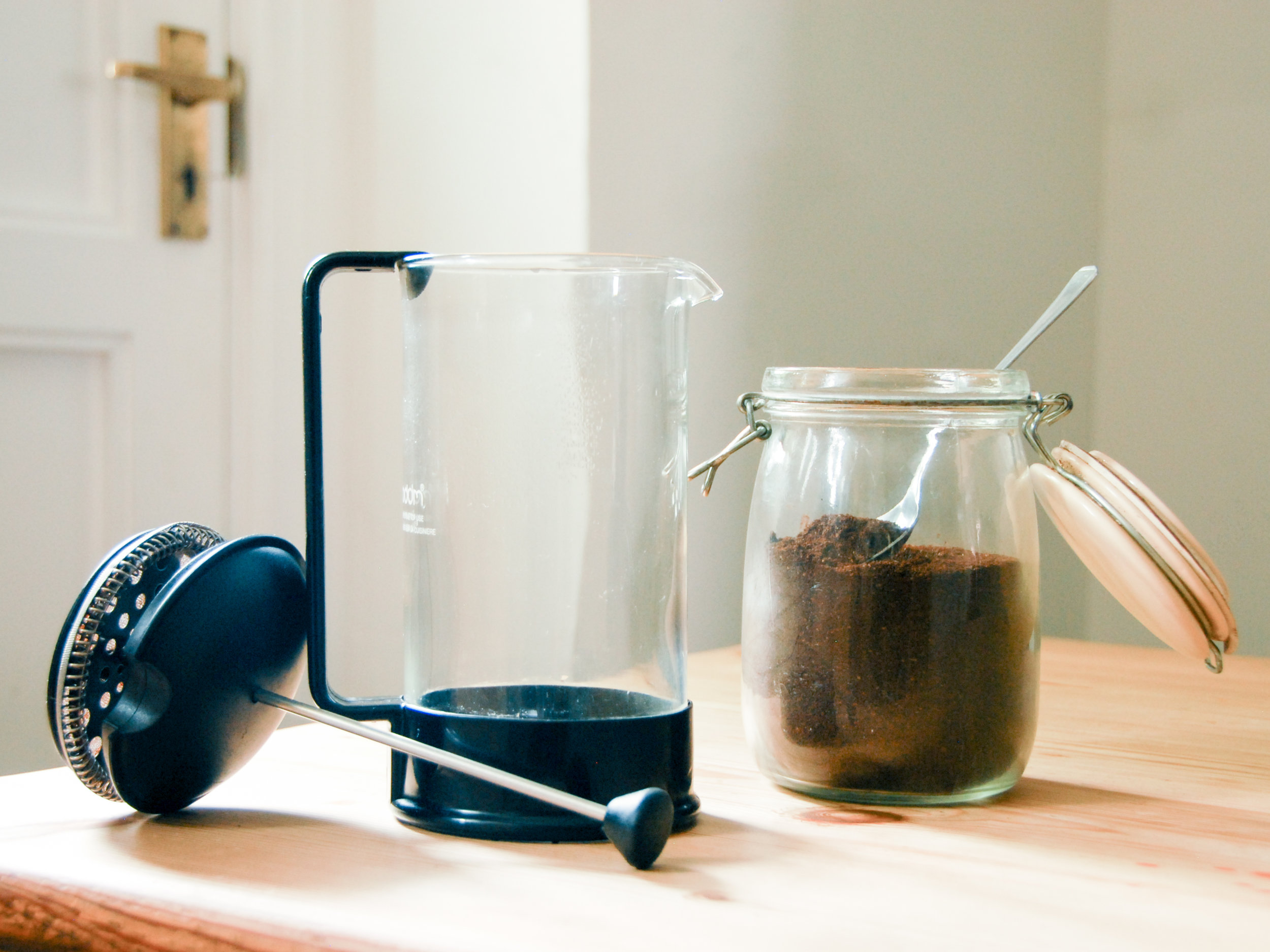 How to Make the Perfect Cup of French Press Coffee for One - French press is an elegant, zero waste method of making coffee. If you're on the go, pour it into a reusable coffee cup!