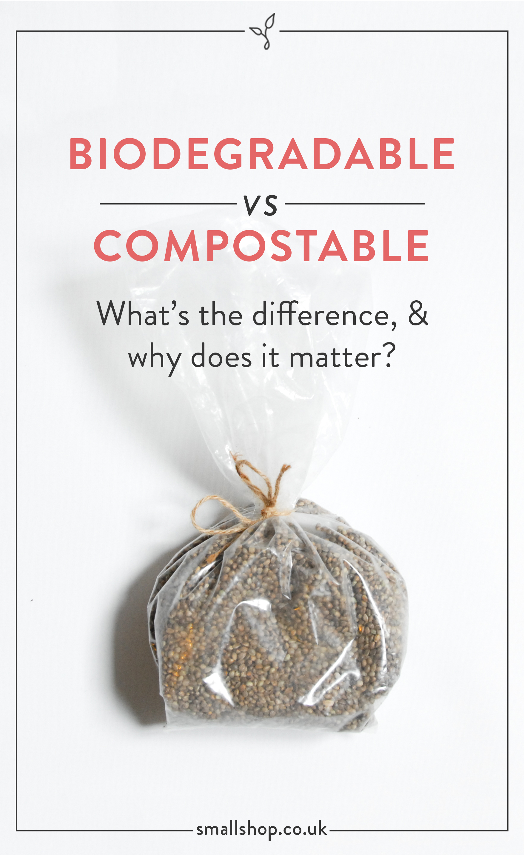 Biodegradable vs. Compostable - What's the difference and why does it matter