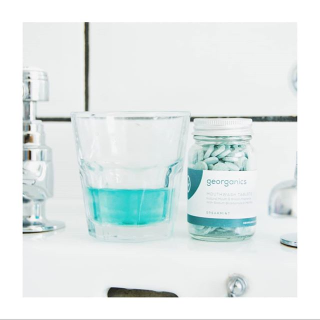 Zero waste mouthwash!  Yes, it's a thing!  These mouthwash tabs from @georganicsuk are super easy to use.  Just dissolve one in about 20ml of water, and swish and gargle like you would with your Boots brand!  But take satisfaction in the fact that this one is 100% natural, vegan, cruelty free, and zero waste (the jar is glass and fully recyclable!). Link in bio!  . . . . . . . . . . #sustainable #sustainability #sustainableliving #sustainablelifestyle #environmentallyfriendly #ecoconscious #lowimpact #ecoliving #ecoconscious #circulareconomy #consciousconsumer #buylesschoosewell #zerowaste #zerowasteuk #zerowastemanchester #zerowastelife #zerowastelifestyle #zerowasteliving #zerowastehome  #nowaste  #zerowastejourney  #journeytozerowaste #wastefree #reducewaste #plasticfree #plasticfreelife #plasticfreeliving #plasticfreeforthesea #banthebag #nomoreplastic