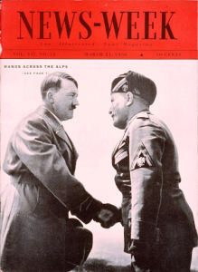 Hitler and Mussolini, Newsweek, 1936