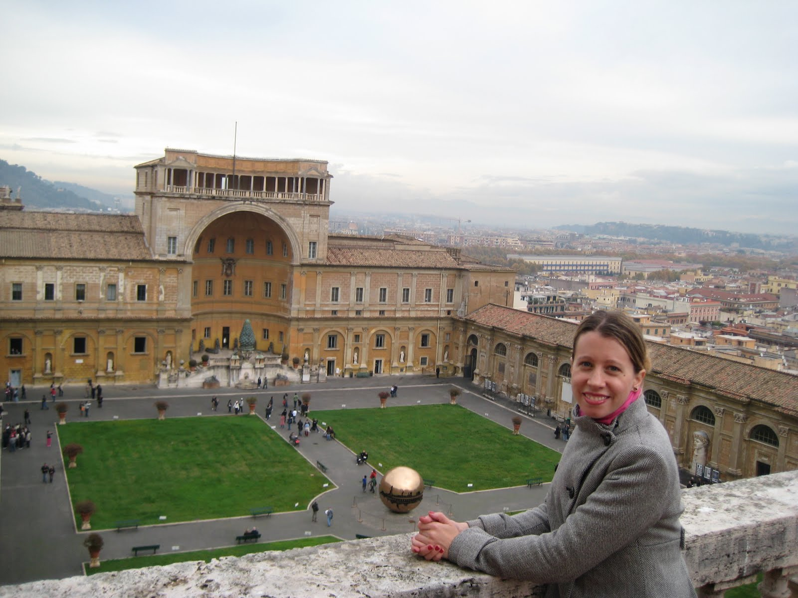 Your humble correspondant on the balcony of the Tower of Winds, Vatican