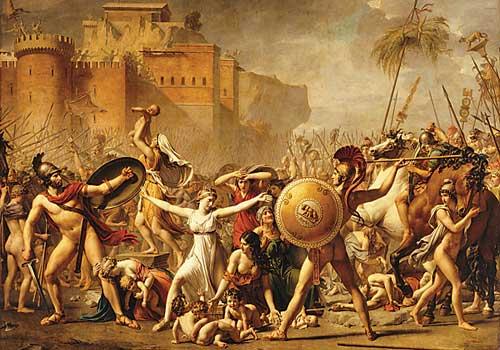 Il Ratto delle Sabine , Jean Louis David  [Source]