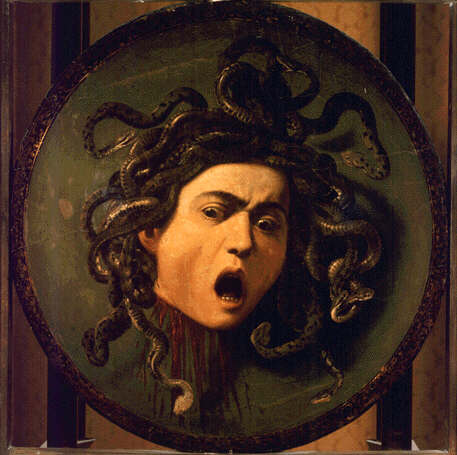 Caravaggio's  Medusa shield, Galleria degli Uffizi, Florence [  Source  ]