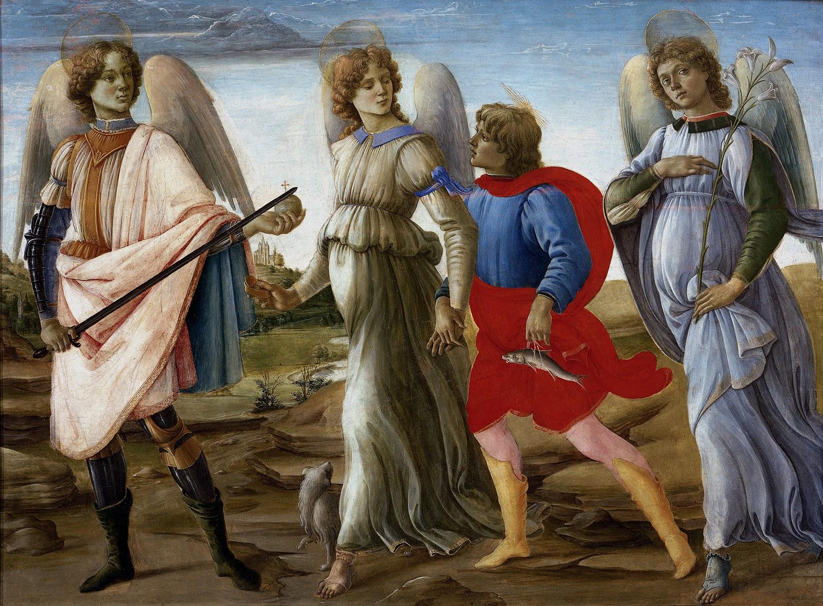 Three Archangels and Young Tobias,  Filippino Lippi, 1477