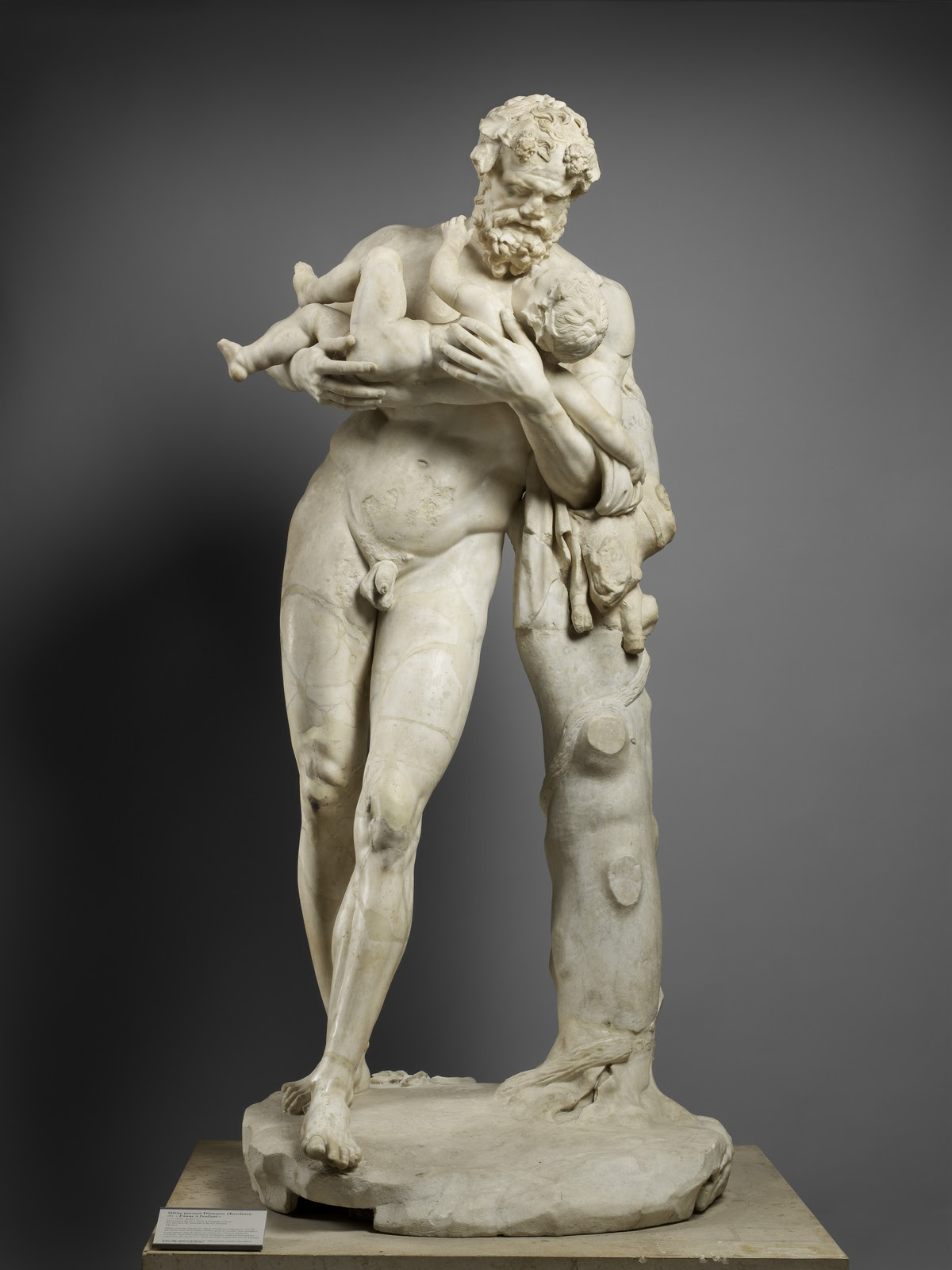Silenus with the Child Bacchus, 1st-2nd cent. AD copy of4th cent. BC original by Lysippus, Louvre Museum, Paris. © Musée du Louvre, Thierry Ollivier