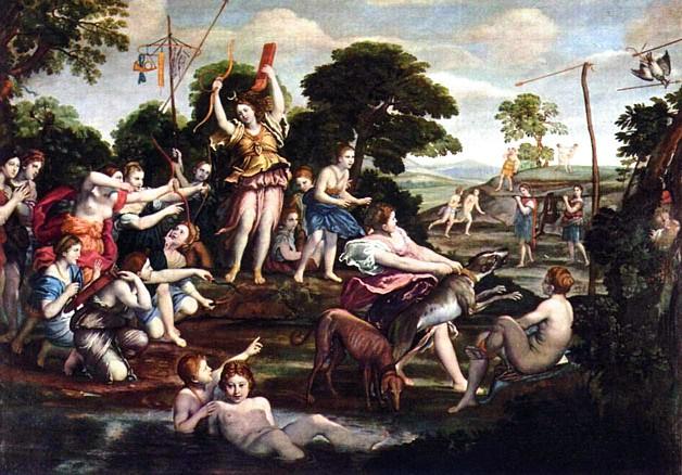 Diana and the Hunt , Domenichino, 1617-1618, Galleria Borghese, Rome