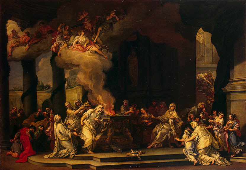 Dedication of a new Vestal Virgin , Alessandro Marchesini, early 1700s