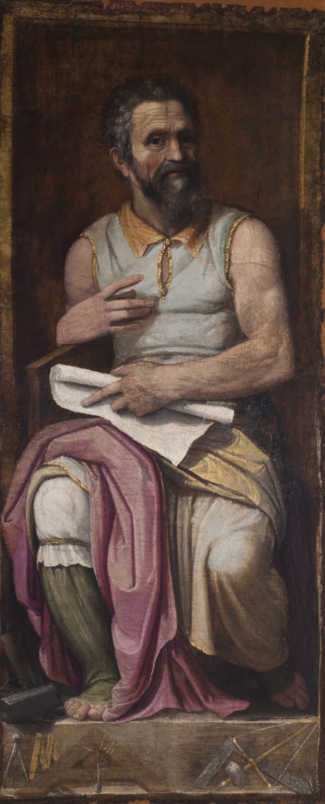 Portrait of Michelangelo as Moses , Federico Zuccari, 1593