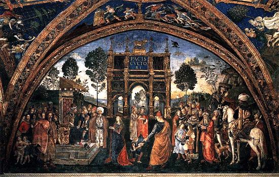 The Disputation of St. Catherine, Pinturicchio, Borgia Apartment, Vatican City