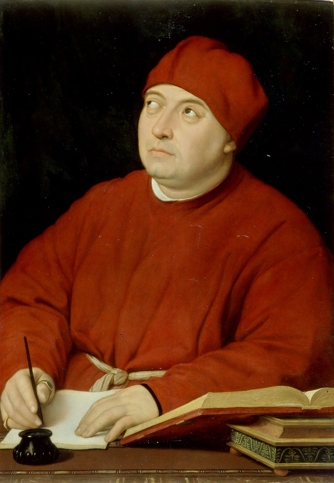 "Portrait of Cardinal Tommaso Inghirami, called ""Fedra"" , Raphael Sanzio"