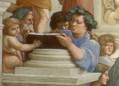 Detail from  School of Athens,  Raphael Sanzio, Vatican Museums