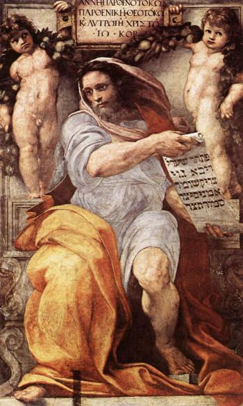 Isaiah , Raphael Sanzio. Chiesa Sant'Agostino, Rome.