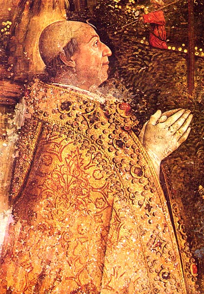 Portrait of Pope Alexander VI, detail from  The Ascension , Pinturicchio
