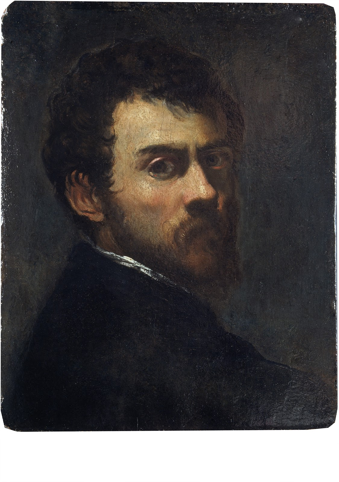 Self Portrait as a Young Man , Tintoretto, 1548. Victoria and Albert Museum, London
