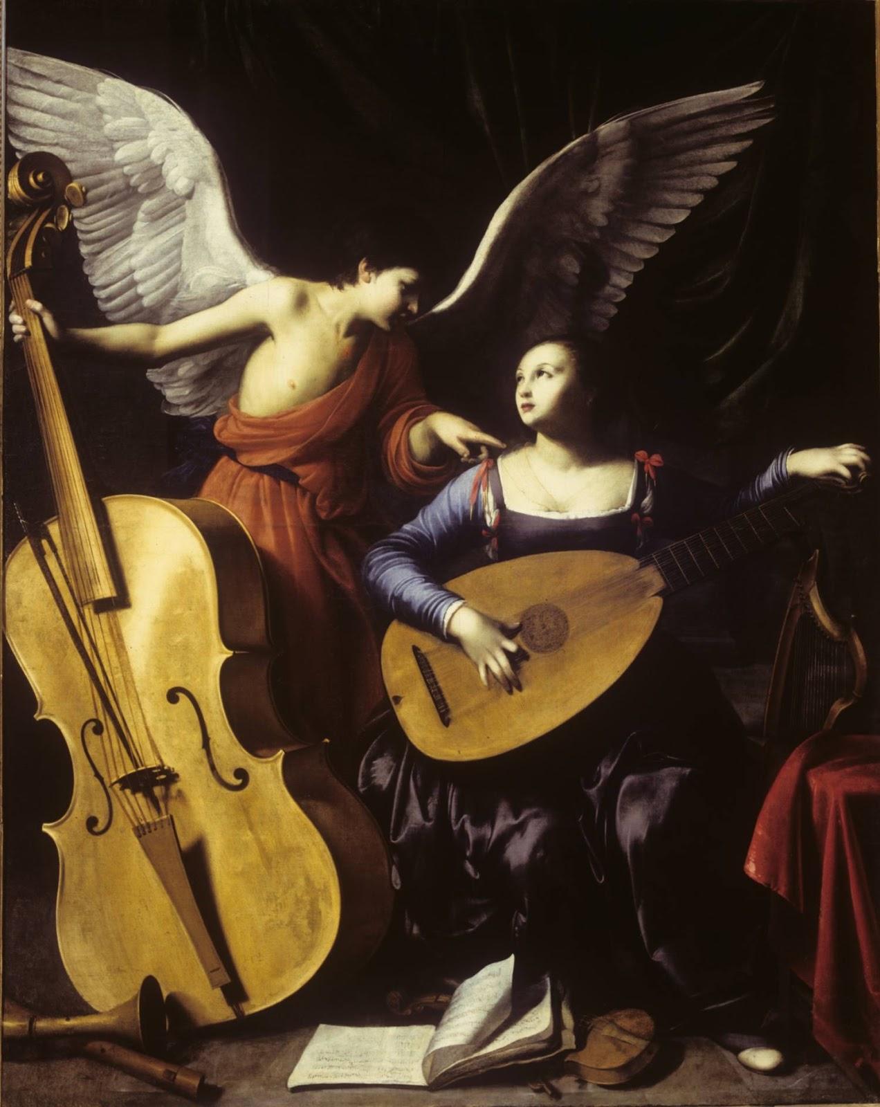 St. Cecilia and the Angel,  Carlo Saraceni