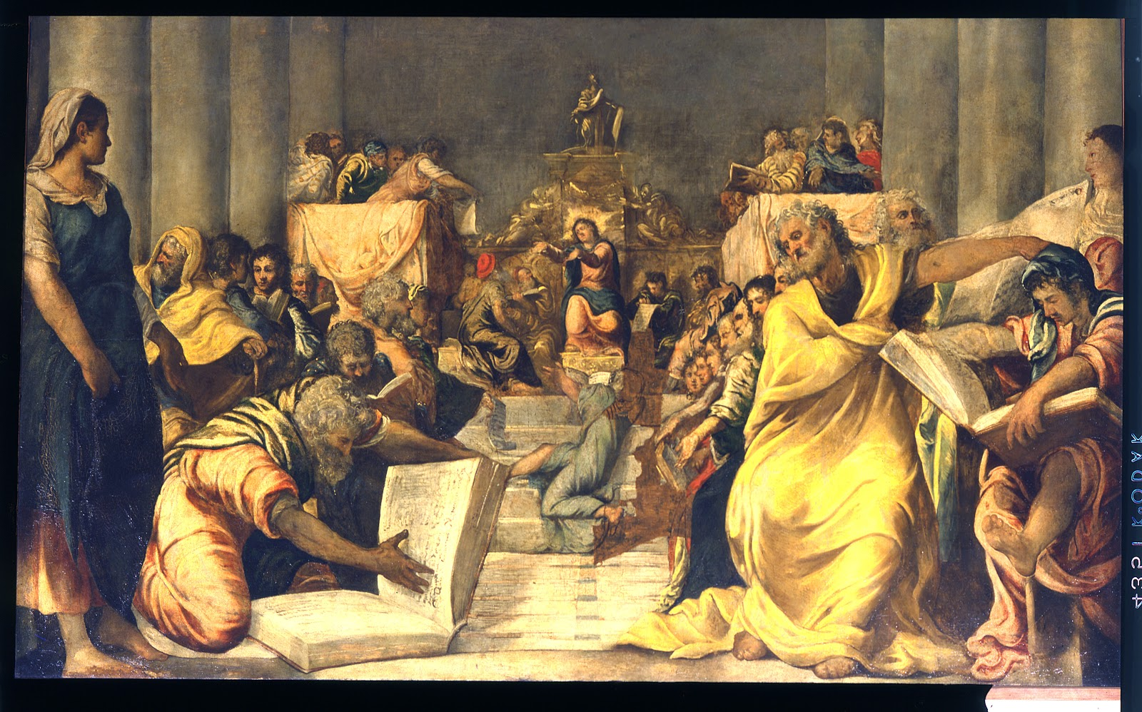 Jesus among the Doctors of the Church , Tintoretto, ca 1542. Museo del Duomo di Milano