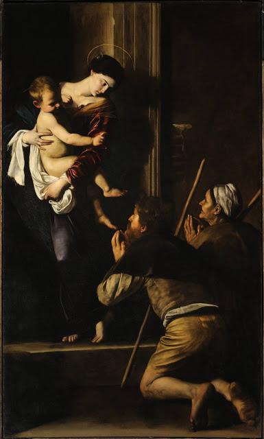 Madonna of Loreto , Michelangelo Merisi da Caravaggio, Sant'Agostino Church, Rome