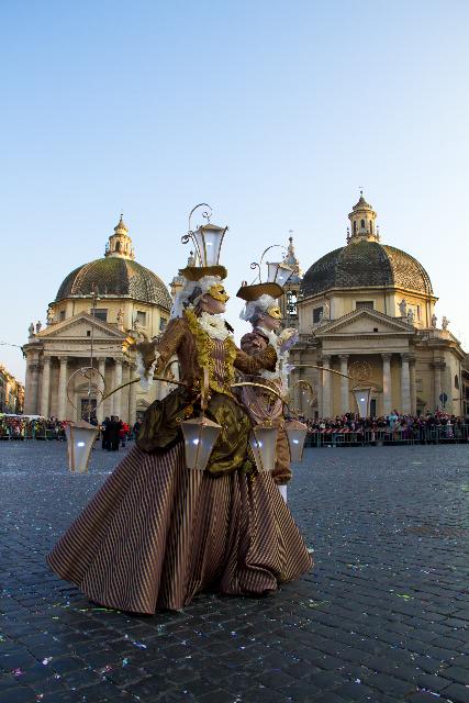 Carnival in Piazza del Popolo