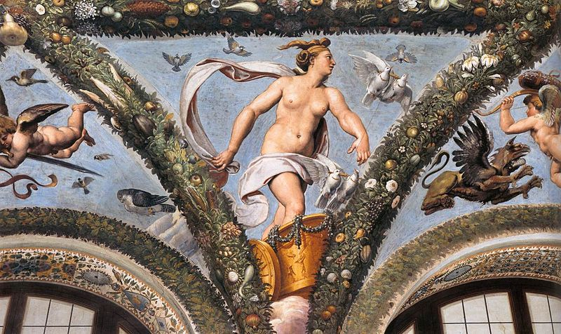 Venus in her Chariot , Giulio Romano
