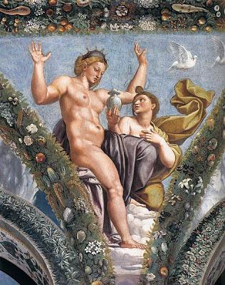 Psyche and Venus , Giulio Romano