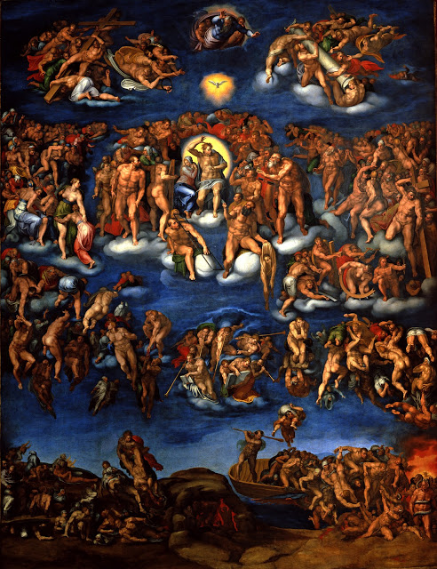 Copy of Michelangelo's  Last Judgement , Marcello Vanusti, 1549, Museo di Capodimonte, Napoli,  [Source]