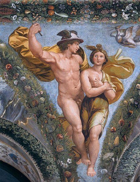 Mercury and Psiche , Giovan Francesco Penni
