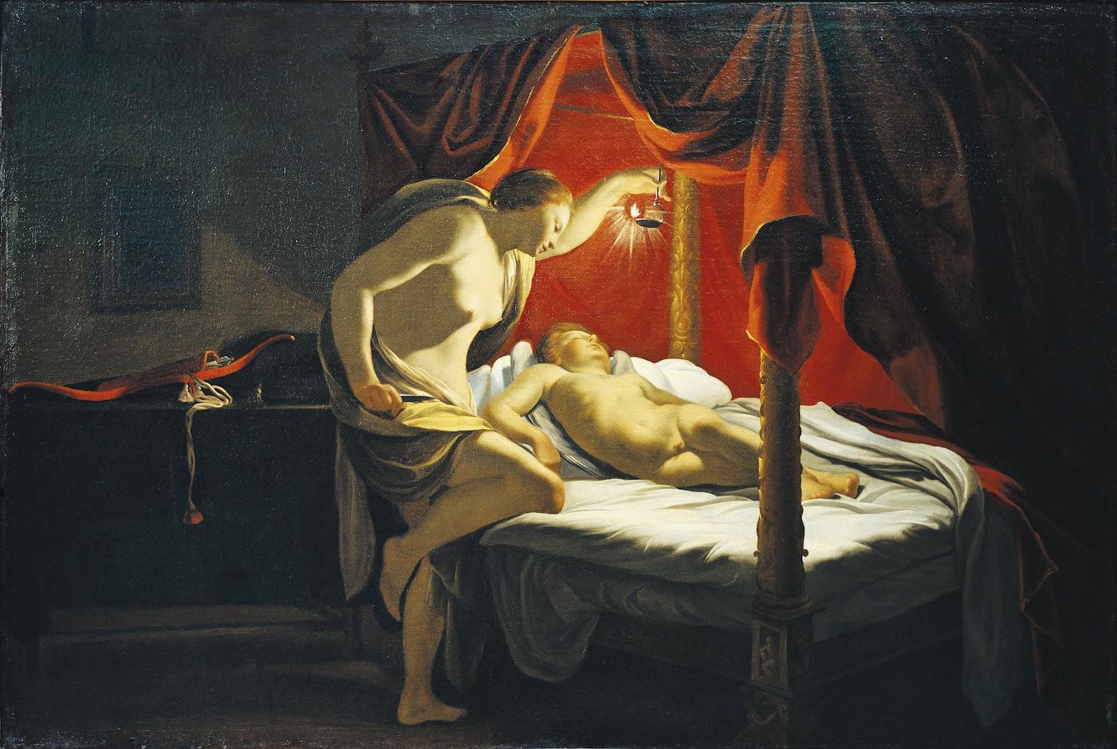 Psyche Discovers Cupid , Simon Vouet, Musée des Beaux Arts, Lyon