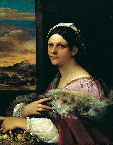 Portrait of Francesca Ordeaschi as Dorotea,  Sebastiano del Piombo