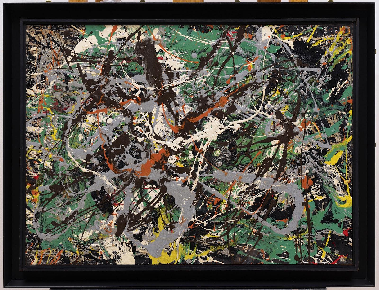 Untitled (Green Silver) , Jackson Pollock, 1949. Solomon R Guggenheim Museum, New York