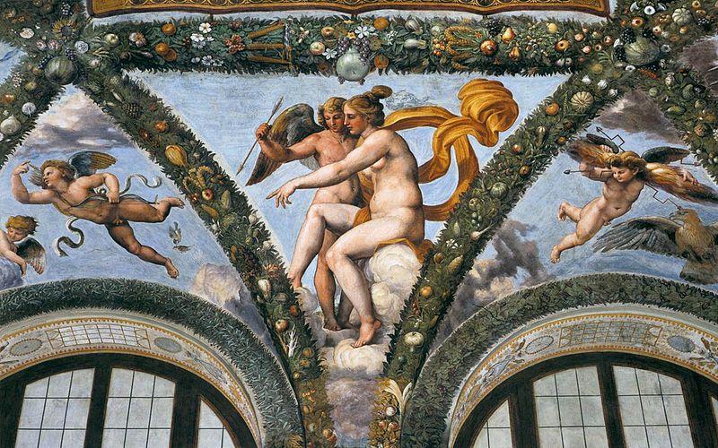 Venus shows Cupid Psiche , Raffaellino del Colle