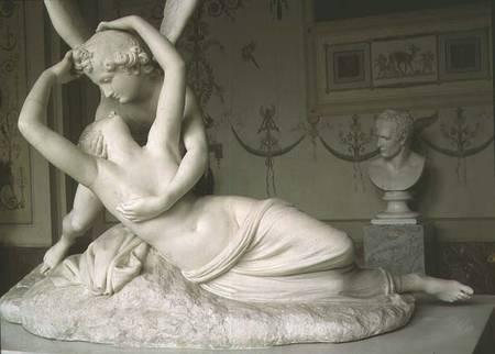 Cupid and Psyche , Antonio Canova, 1786-93, Musée du Louvre, Paris