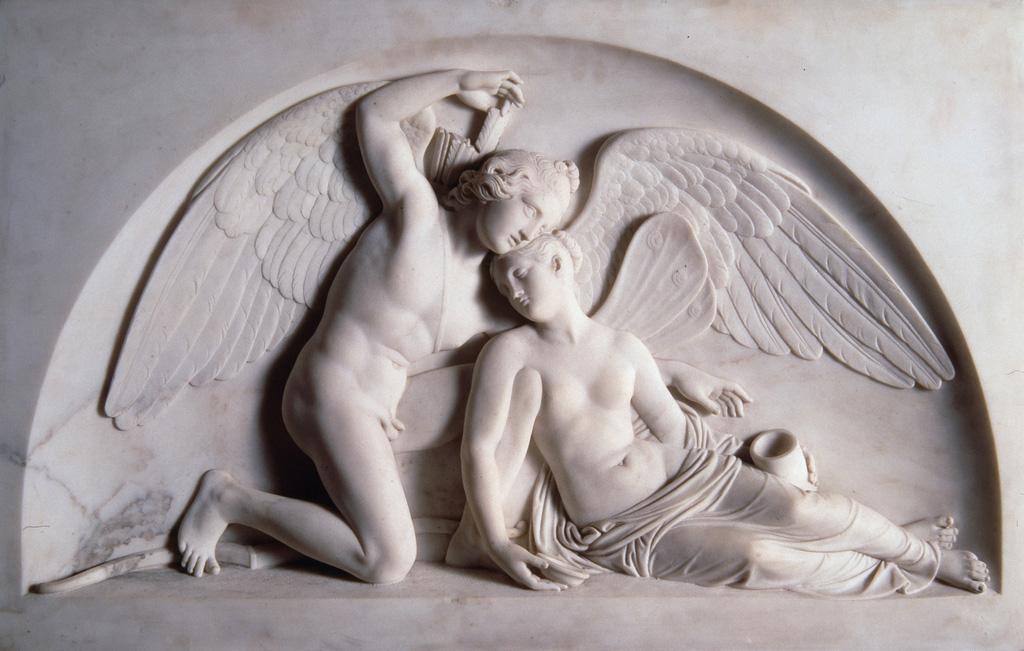 Cupid R  evives the Fainted Psyche,  Bertel Thorvaldsen, Thorvaldsen Museum, Copenhagan