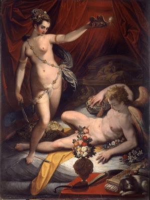 Psyche Discovers Cupid , Jacopo Zucchi, Galleria Borghese, Rome