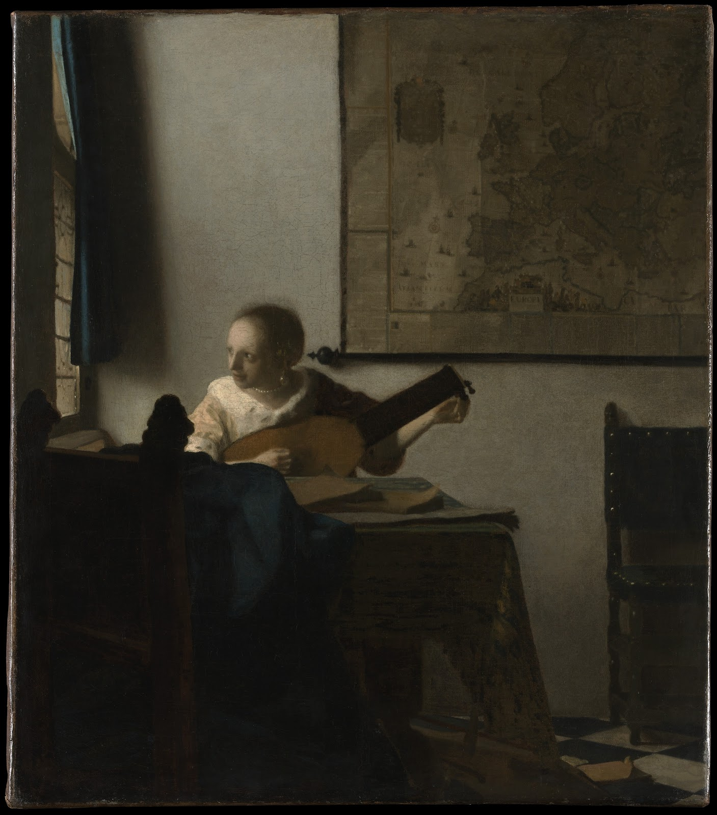 Lute Player , Johannes Vermeer,1662/3, Metropolitan Museum of Art, New York