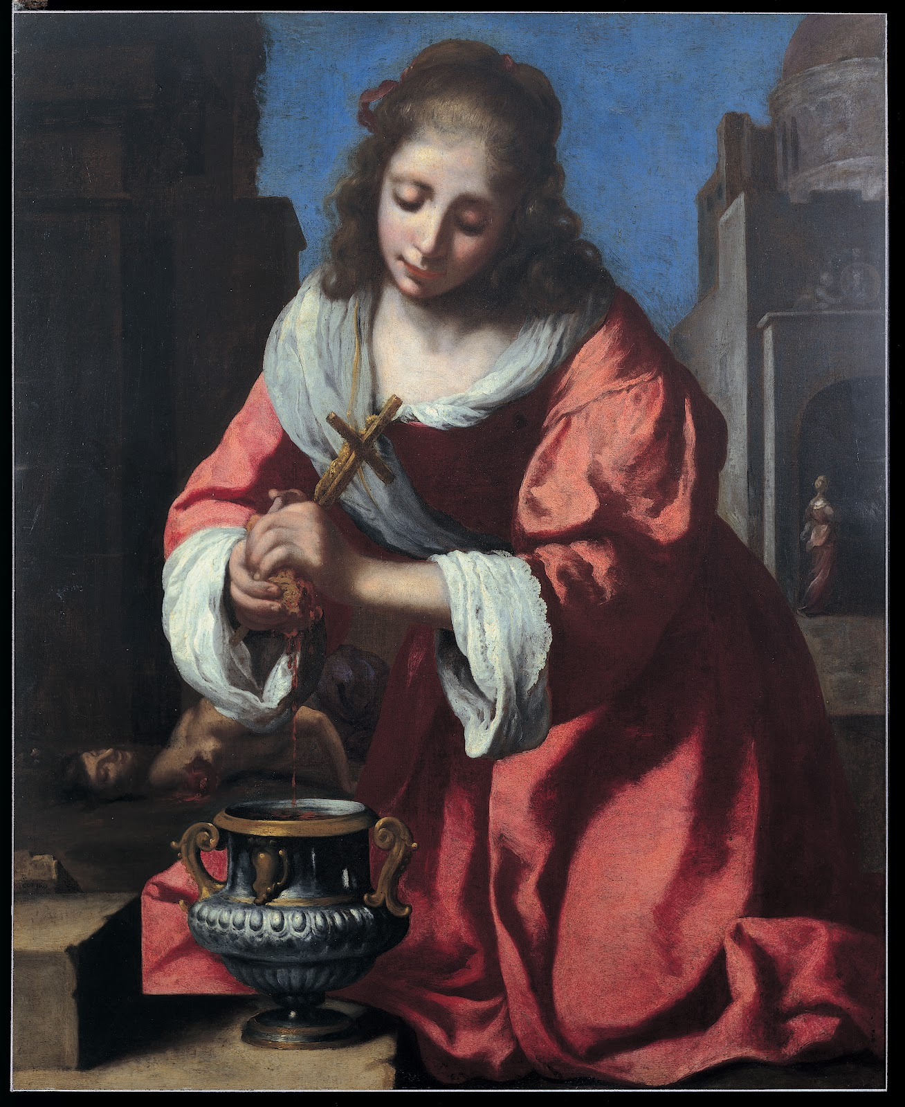 Saint Praxedes , Johannes Vermeer (disputed), 1655, The Barbara Piasecka Johnson Collection Foundation