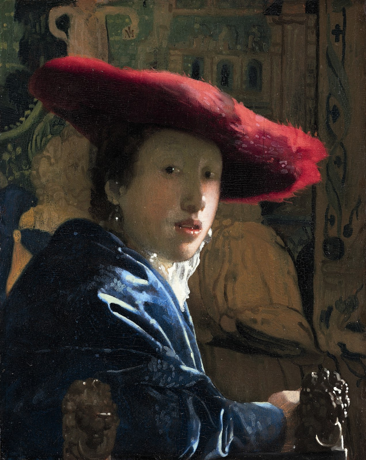 Girl in a Red Hat , Johannes Vermeer, 1665-67, National Gallery of Art, Washington, D.C.