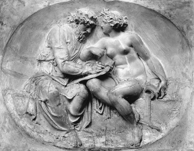 Numa Pompilius Conversing with Egeria in her Grotto , Bertel Thorvaldsen, Thorvaldsen Museum, Copenhagan, 1792.