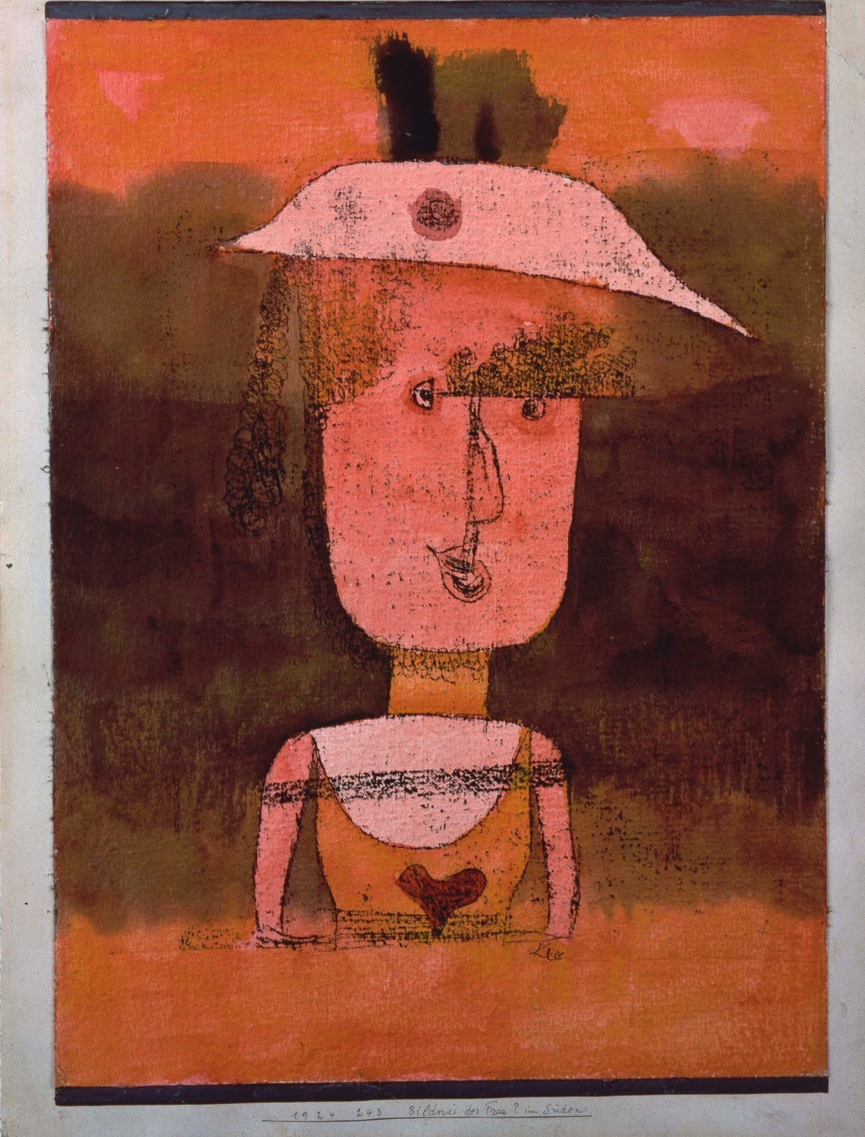 Portrait of Mrs. P in the South , Paul Klee, 1924. Peggy Guggenheim Collection, Venice.