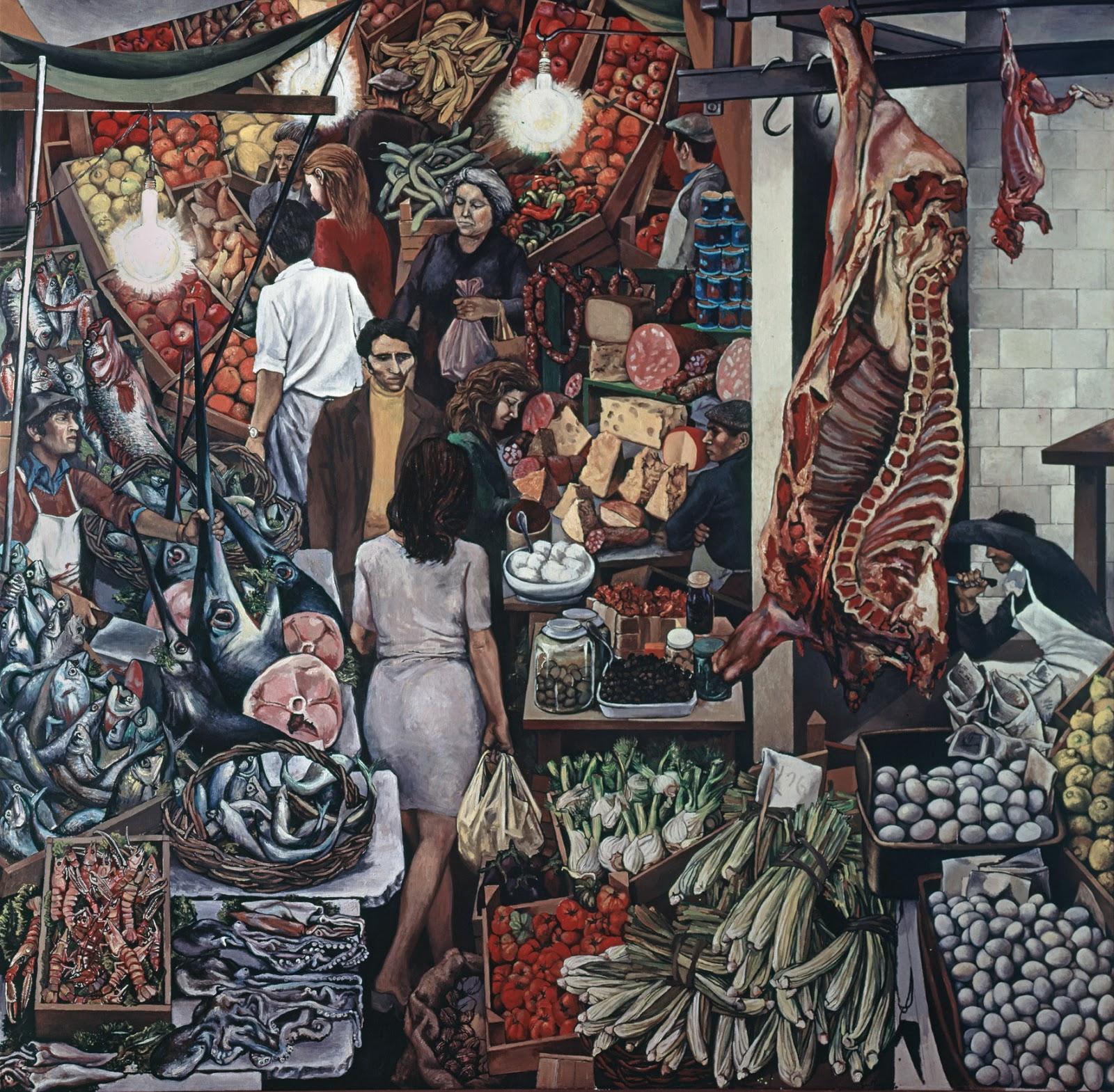 La Vucciria , Renato Guttuso, 1974. Università degli Studi di Palermo
