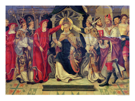 Coronation of Pope Celestine V in August 1294,  French School